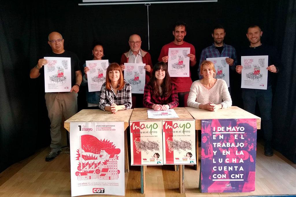 'En el campo y en la ciudad, justicia social', CNT, CGT y STEA convocan un bloque crítico en Teruel el 1 de mayo