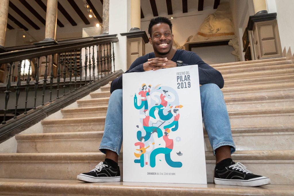 'Pilares' es el título del cartel ganador de las Fiestas del Pilar 2019