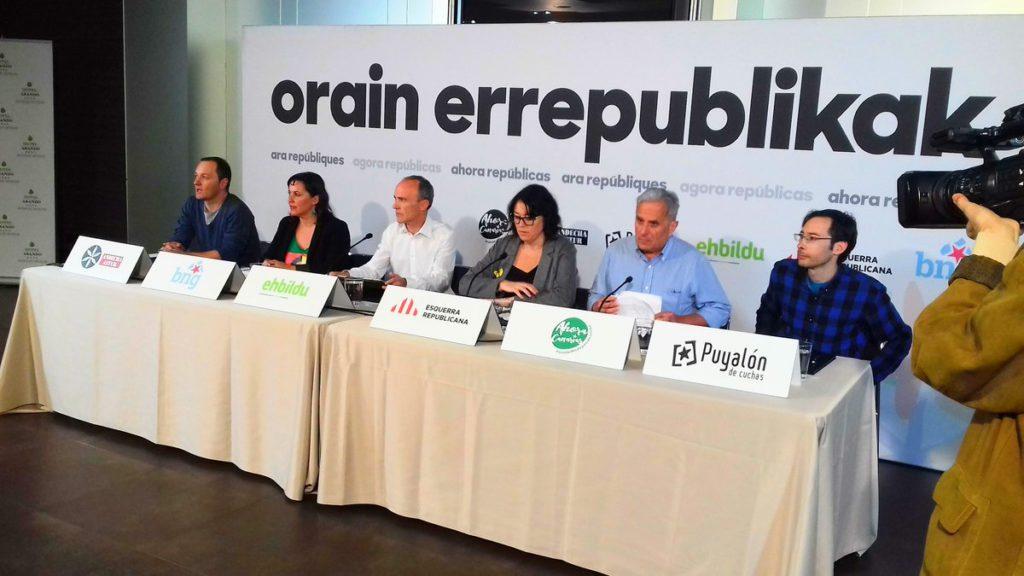La candidatura Ahora Repúblicas se presenta este sábado en Zaragoza