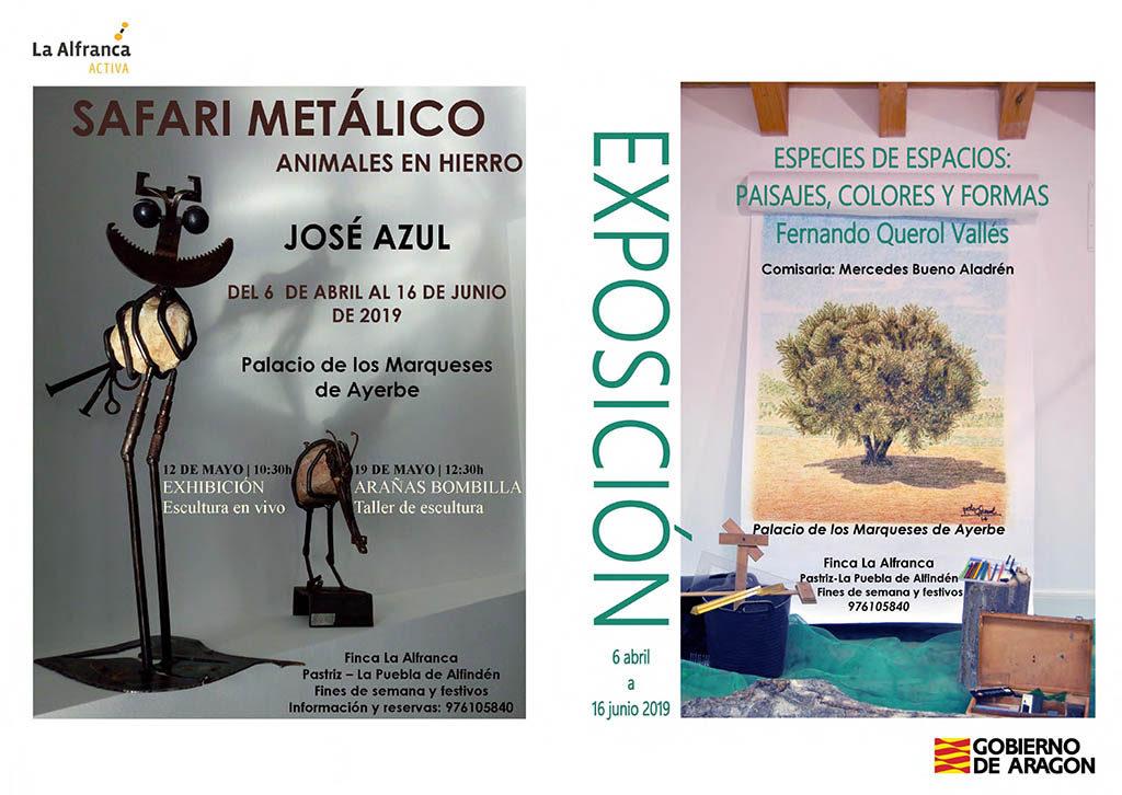 La Alfranca acoge los dibujos y pinturas de Fernando Querol y las esculturas de José Azul