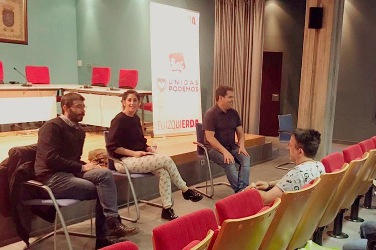 Unidas Podemos presenta en La Muela un programa basado en aumentar las penas por corrupción