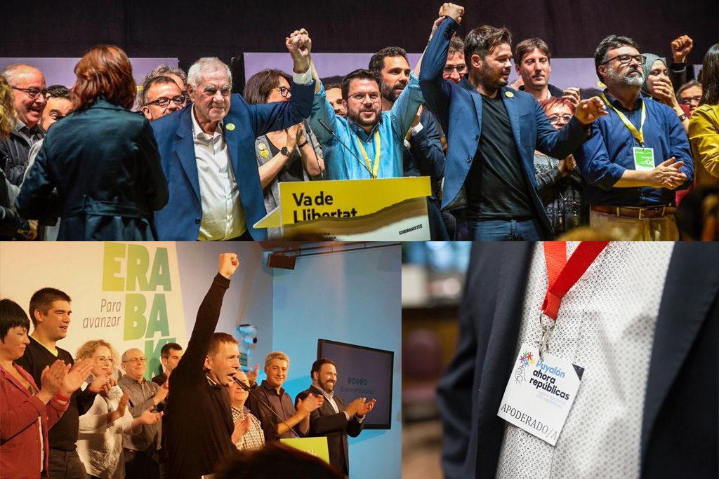 Más de 1.300.000 votos independentistas, de izquierdas y antifascistas, obtienen 19 escaños en el parlamento español