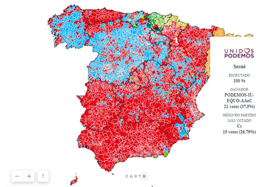 El pactómetro y los mapas interactivos con todos los datos del 28A