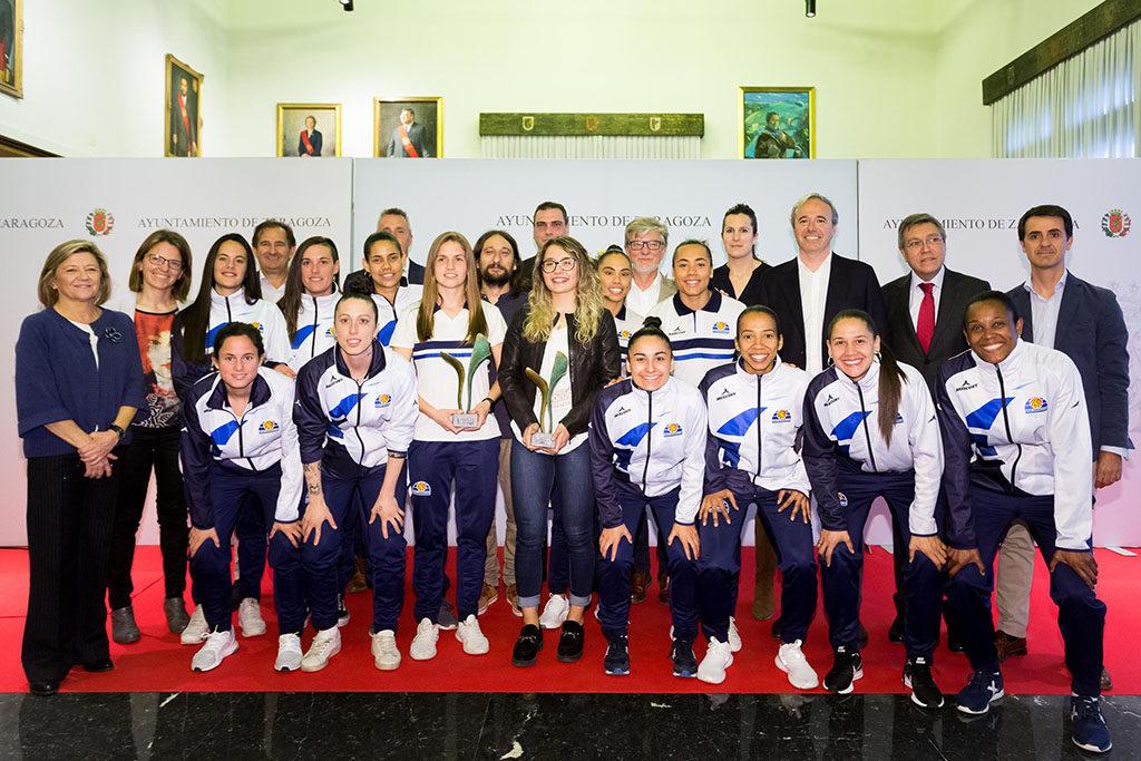 La patinadora Nerea Langa y el club Sala Zaragoza, Premios Mujer y Deporte 2018