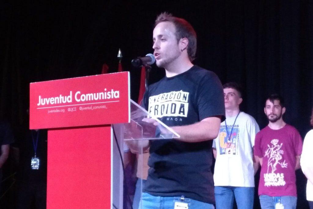 La Juventud Comunista concluye su XIV Congreso eligiendo al aragonés Guillermo Úcar como secretario general