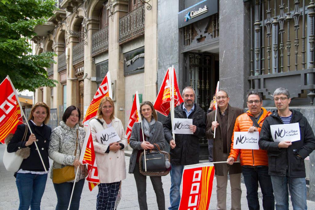 CCOO vuelve a pedir la retirada de las medias forzosas en Caixabank