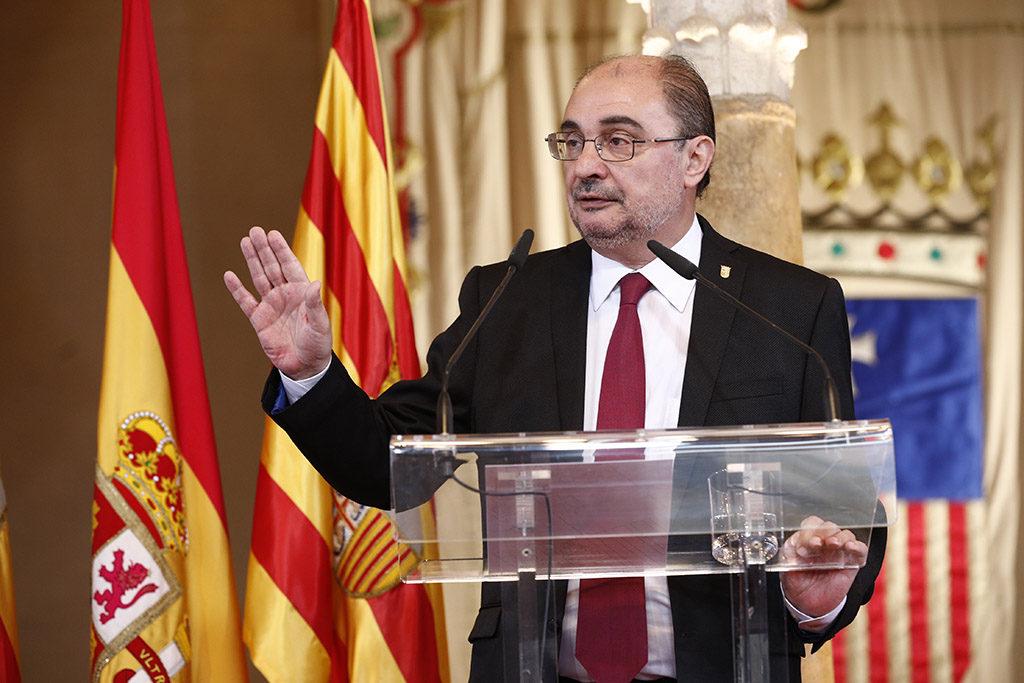 """En el Diya d'Aragón, Lambán apela a la """"unidad de España como bien supremo"""""""