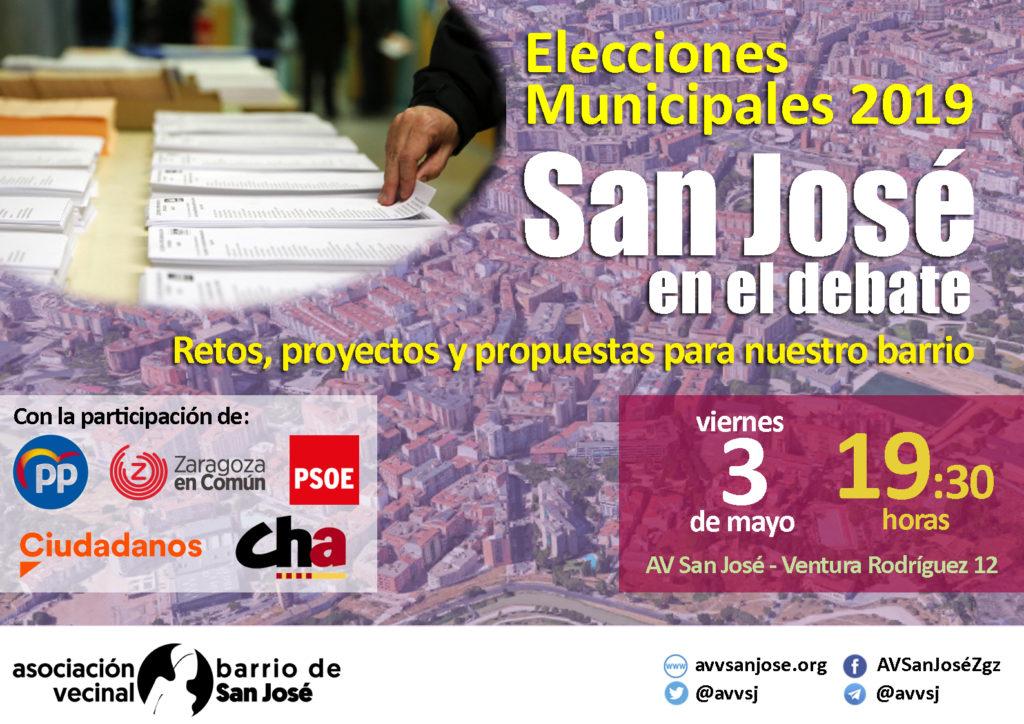 San José tendrá un debate electoral propio sobre retos, proyectos y propuestas para el barrio zaragozano