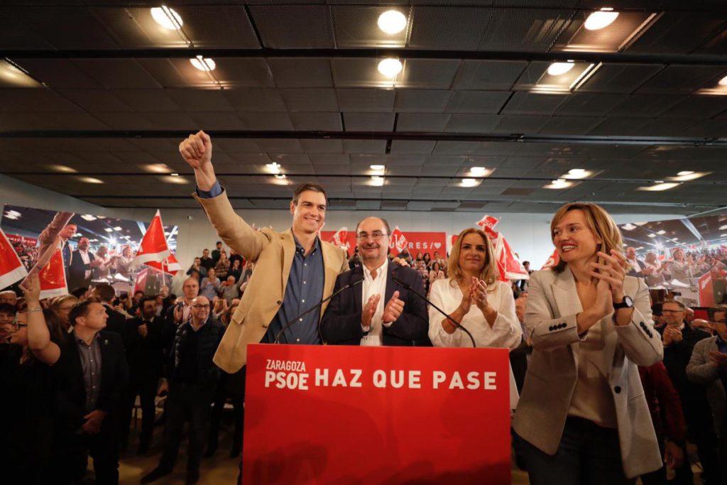 """Sánchez mete la directa en Zaragoza: """"Si hay un gobierno socialista no habrá independencia en Catalunya, no habrá referéndum y no se quebrará la Constitución"""""""
