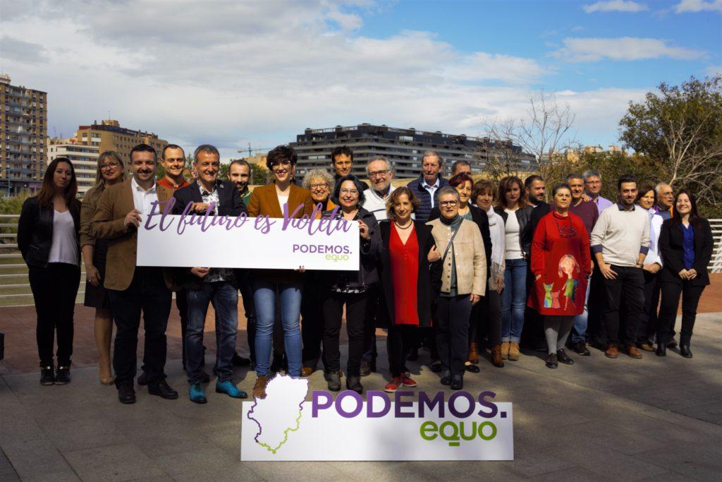 Podemos-Equo presenta su candidatura para el Ayuntamiento de Zaragoza de la mano de Violeta Barba