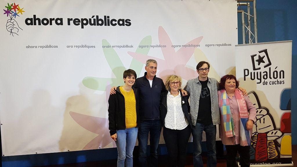 Ahora Repúblicas un «voto de ilusión» para «llevar la voz del Aragón rebelde a Madrid y a Europa»
