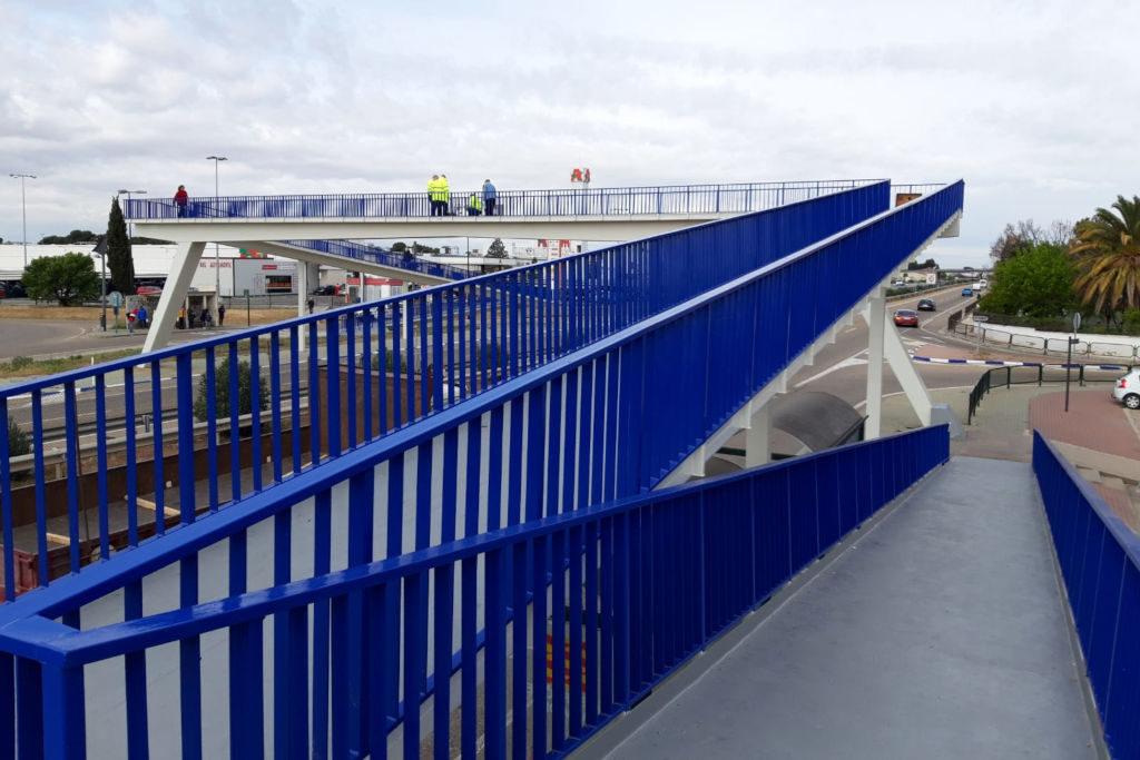 Cierran por peligrosidad la pasarela peatonal de Utebo después de varios meses cerrada por obras