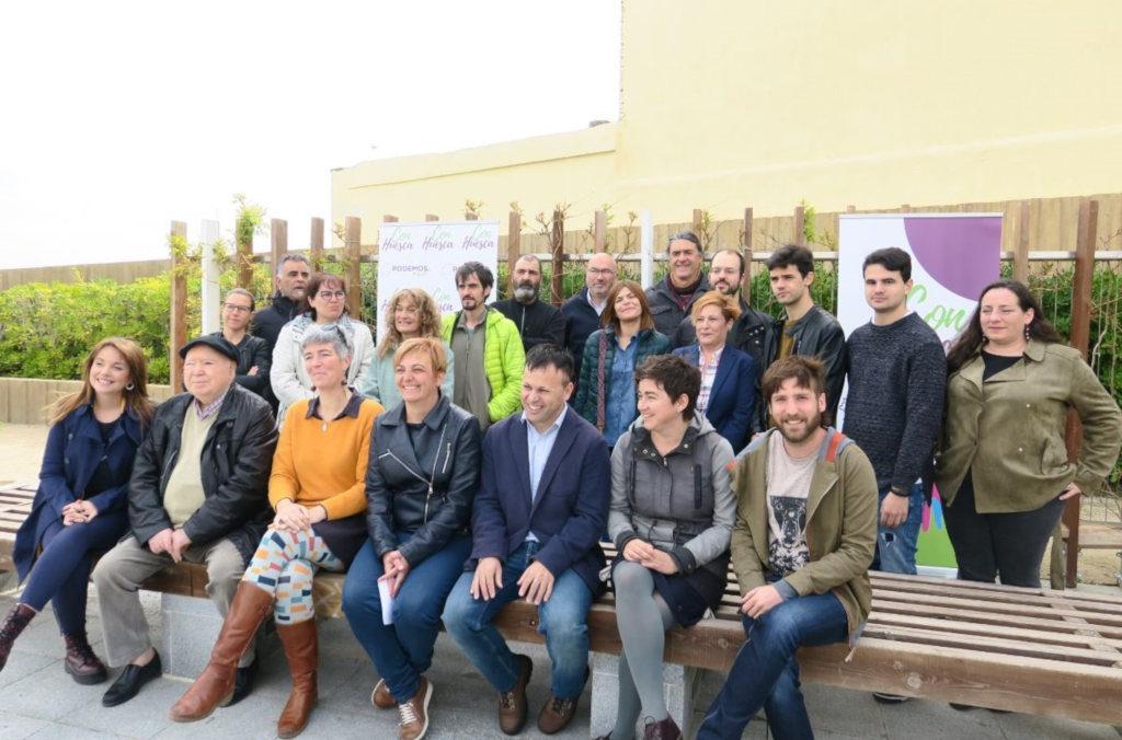 Podemos y Equo presentan Con Huesca, la candidatura para las municipales oscenses