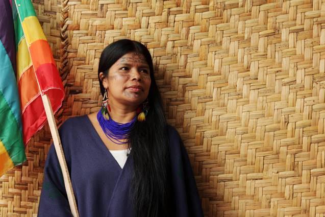 La lideresa de las Mujeres Defensoras de la Selva visita Zaragoza para hablar sobre la lucha contra las petroleras