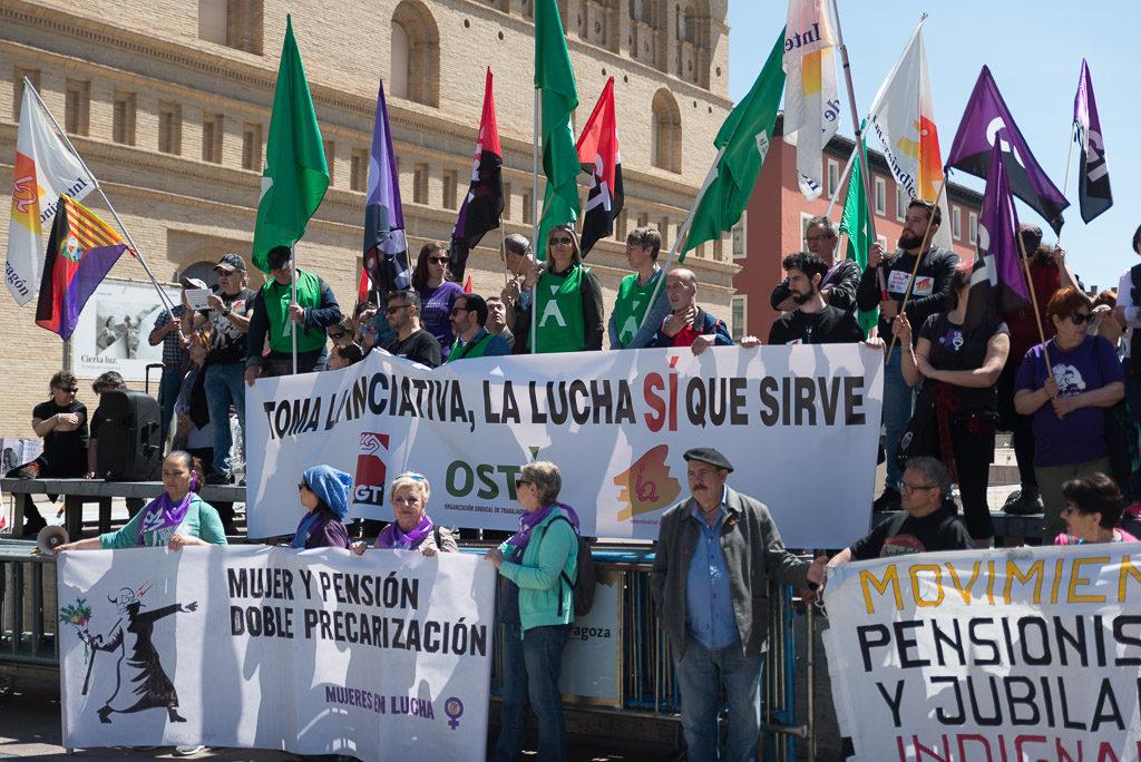 Los sindicatos aragoneses toman la iniciativa en este 1 de Mayo para defender los derechos laborales y las libertades fundamentales