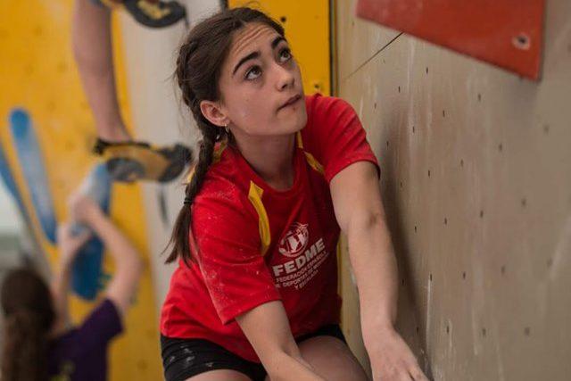 La escaladora ejeana María Laborda se lleva a casa el título de campeona del mundo en edad escolar