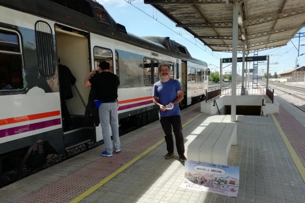 Alto Aragón en Común reclama enlazar ya por ferrocarril Binéfar y Monzón con Uesca