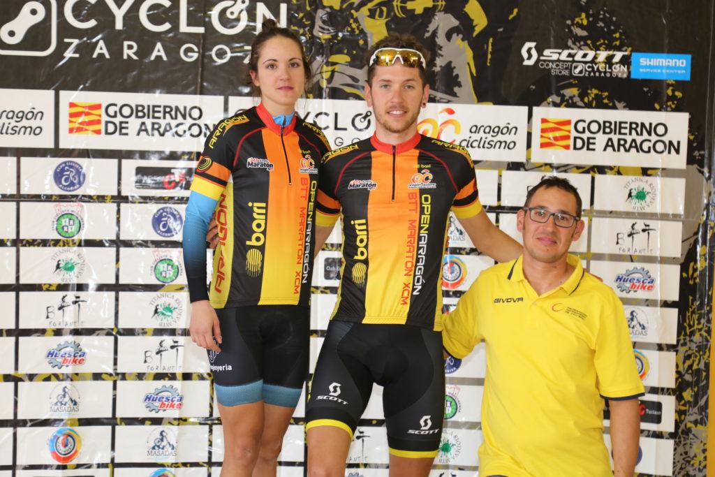 Sandra Valera y Jorge Lamiel, líderes del Open de Aragón BTT XCM 2019 tras ganar la XIV Transebre BTT de Mequinensa