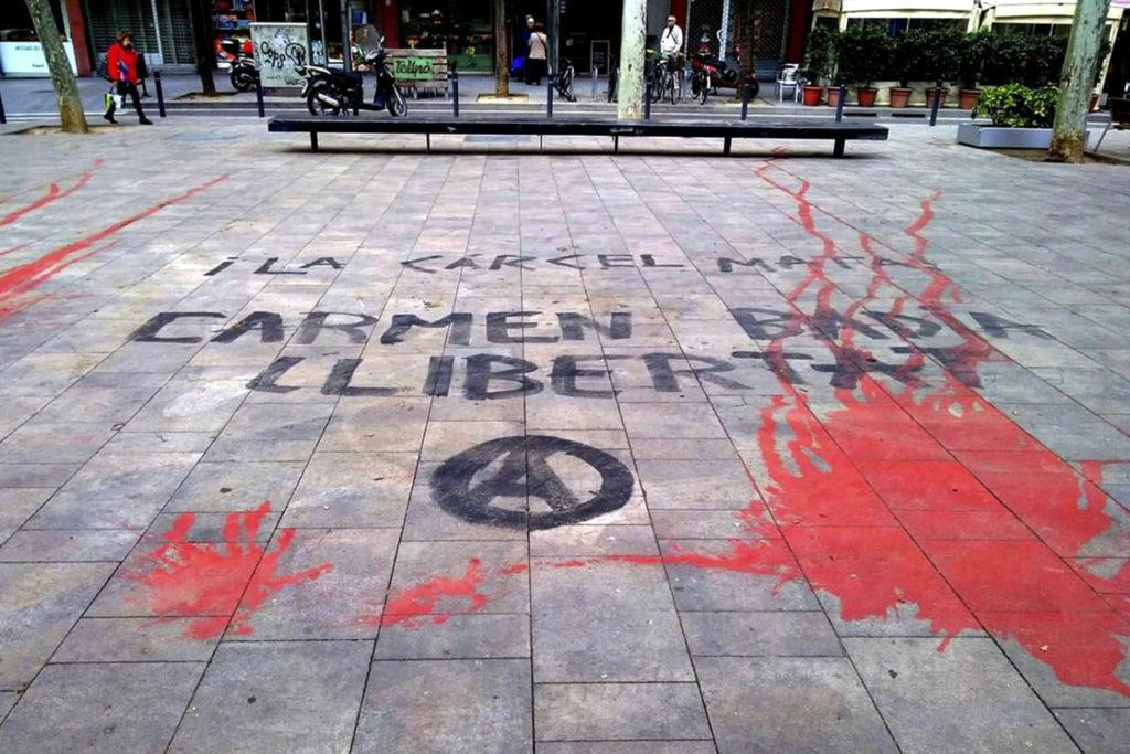 Carmen Badía reinicia la huelga de hambre en la prisión de Zuera