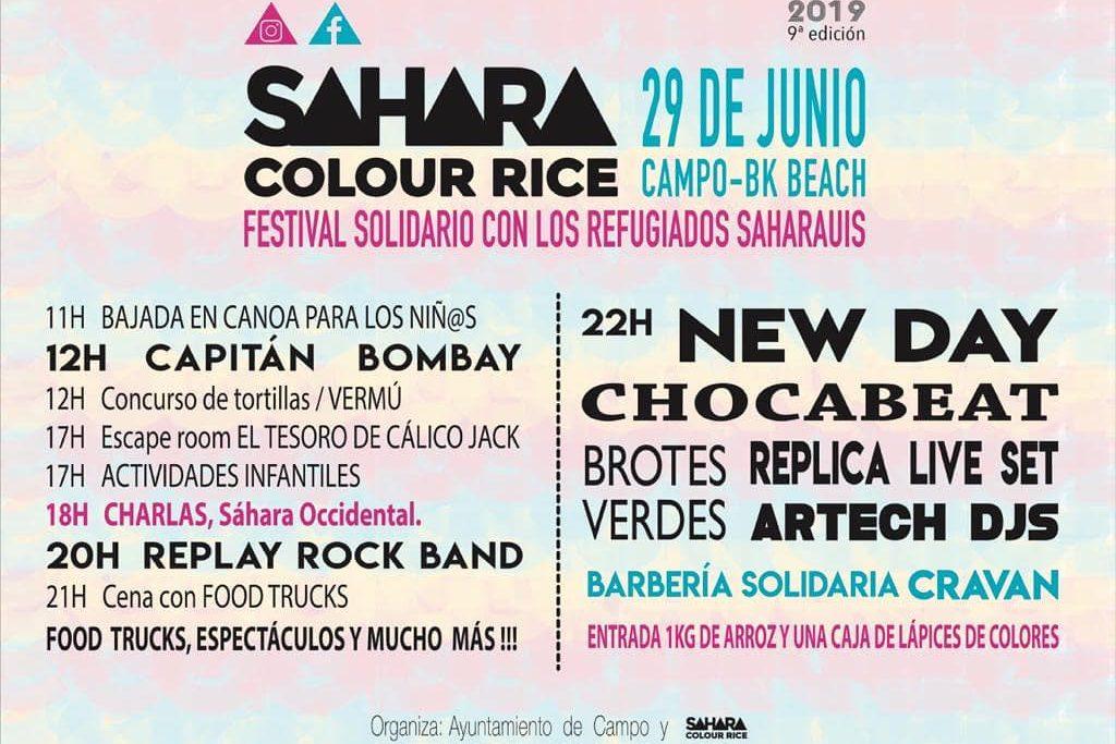 Bajadas en canoas, escape rooms y el mismo espíritu solidario para la novena edición del festival Sahara Colour Rice
