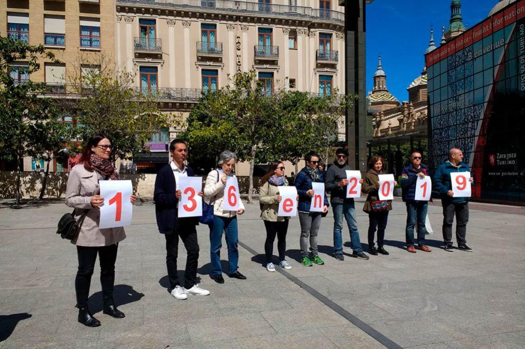 Concentración en Zaragoza por las nueve personas muertas en el Mediterráneo