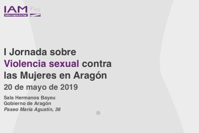 Abierto el plazo de inscripción para la Jornada sobre Violencia sexual contra las Mujeres en Aragón organizada por el IAM