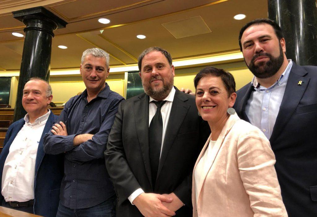 """ERC y EH Bildu acuerdan una """"unidad de acción política"""" en el Congreso y en el Senado para defender su plan estratégico de cinco ejes"""