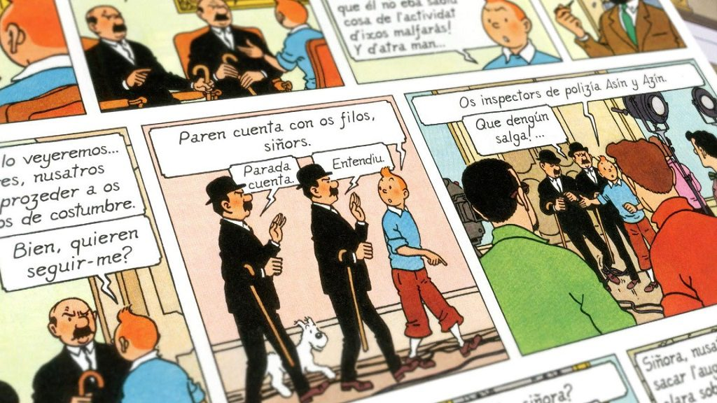 """Tintín tamién charra aragonés"""