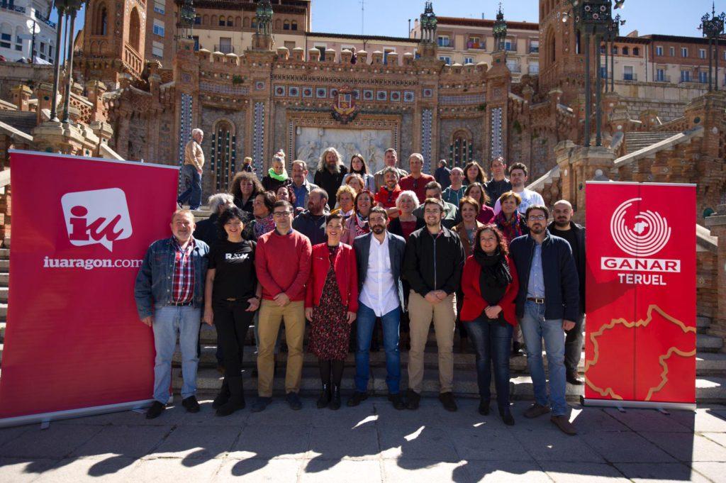 Izquierda Unida presenta en Teruel su candidatura territorial de cara a las elecciones del 26 de mayo