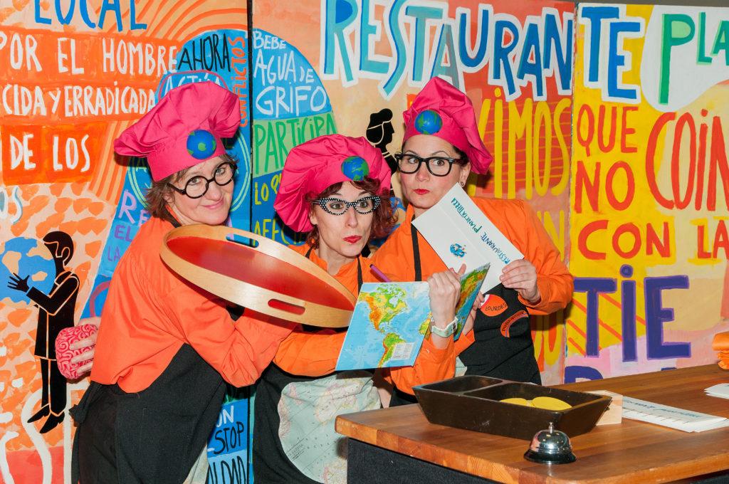 Restaurante 'Planeta Tierra': un lugar donde jugar y reflexionar sobre 17 objetivos para cambiar el planeta
