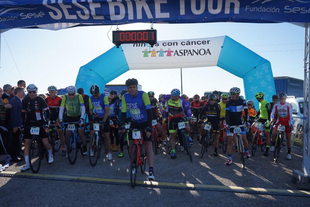Una Sesé Bike Tour 2019 de récord recauda 26.000 euros para luchar contra el cáncer