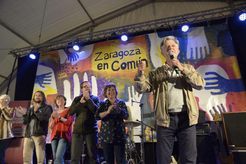 """Santisteve: """"Frente a todas esas derechas que alumbran un mañana muy oscuro, Zaragoza en Común es la esperanza"""""""