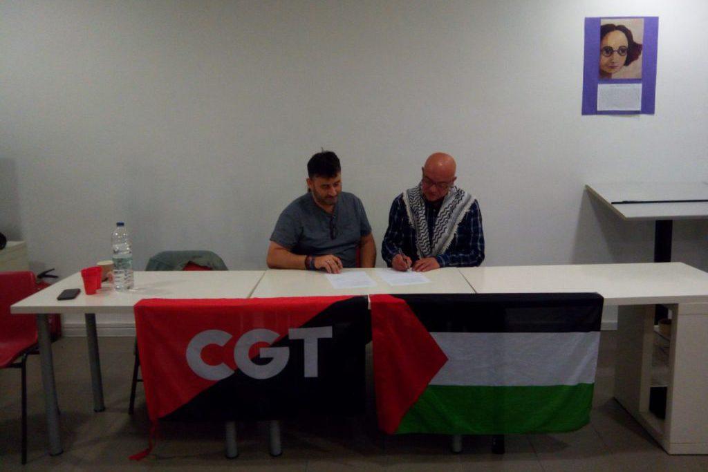 CGT y Casa Palestina firman un convenio de colaboración