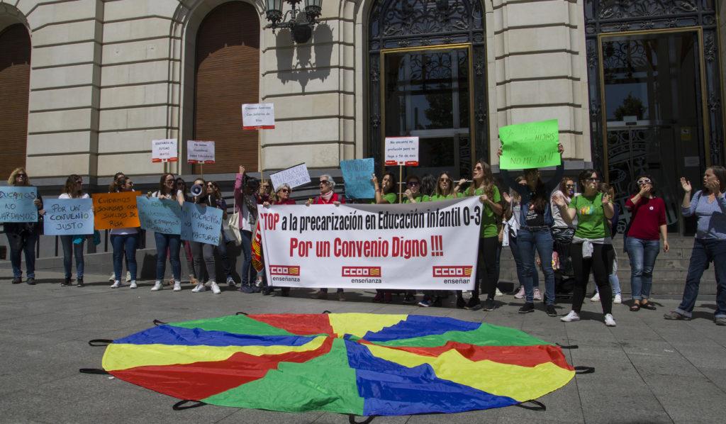 """Las trabajadoras de educación infantil privada en Aragón reclaman un convenio sectorial """"digno"""""""