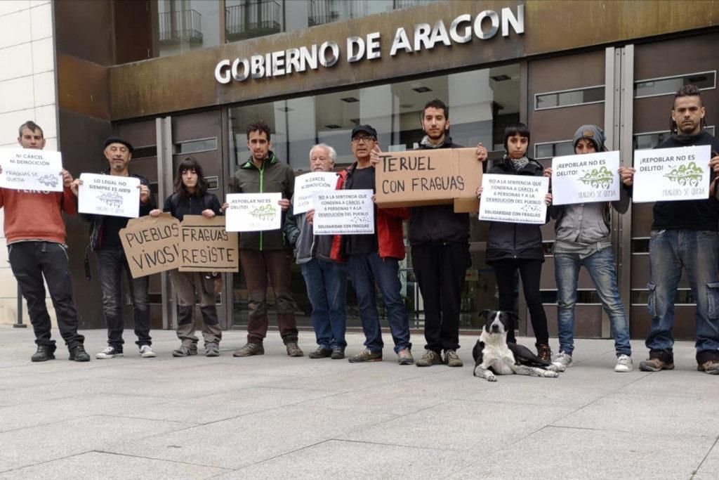 Concentración en Teruel en apoyo a Fraguas
