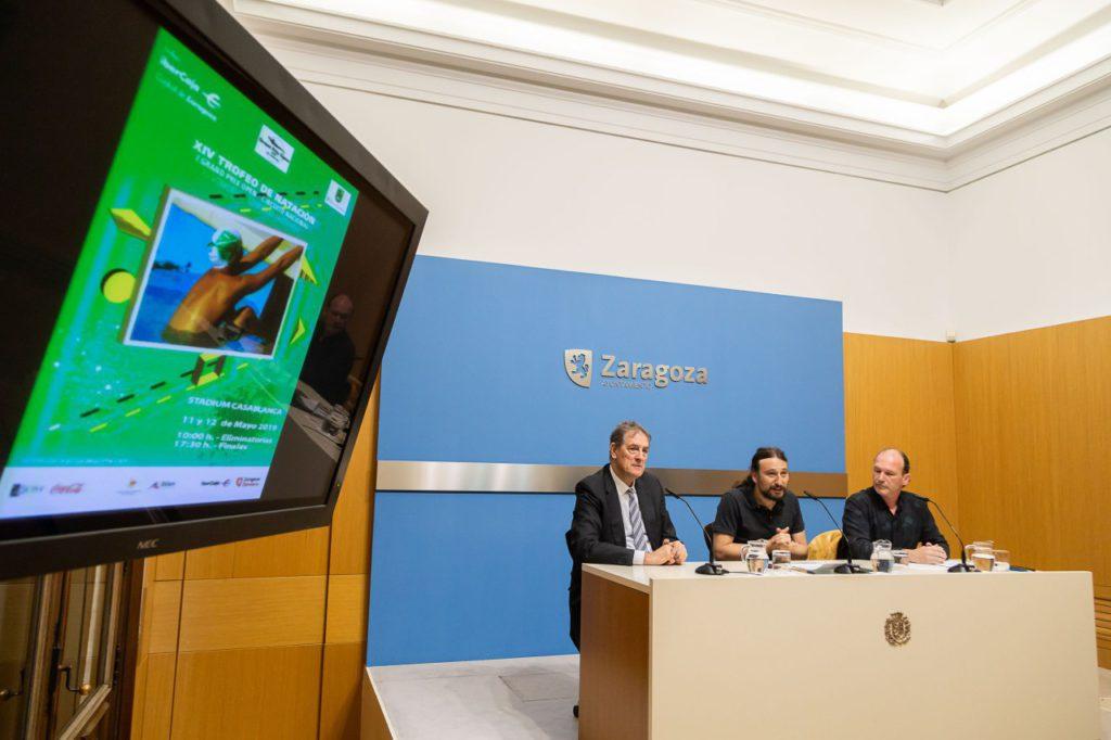 El Trofeo Ciudad de Zaragoza de natación reúne a deportistas de alto nivel internacional