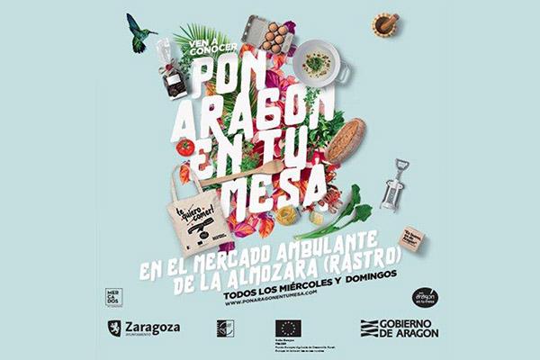 El Ayuntamiento de Zaragoza realiza un proyecto piloto de venta de alimentos de Aragón en el Mercado Ambulante de l'Almozara