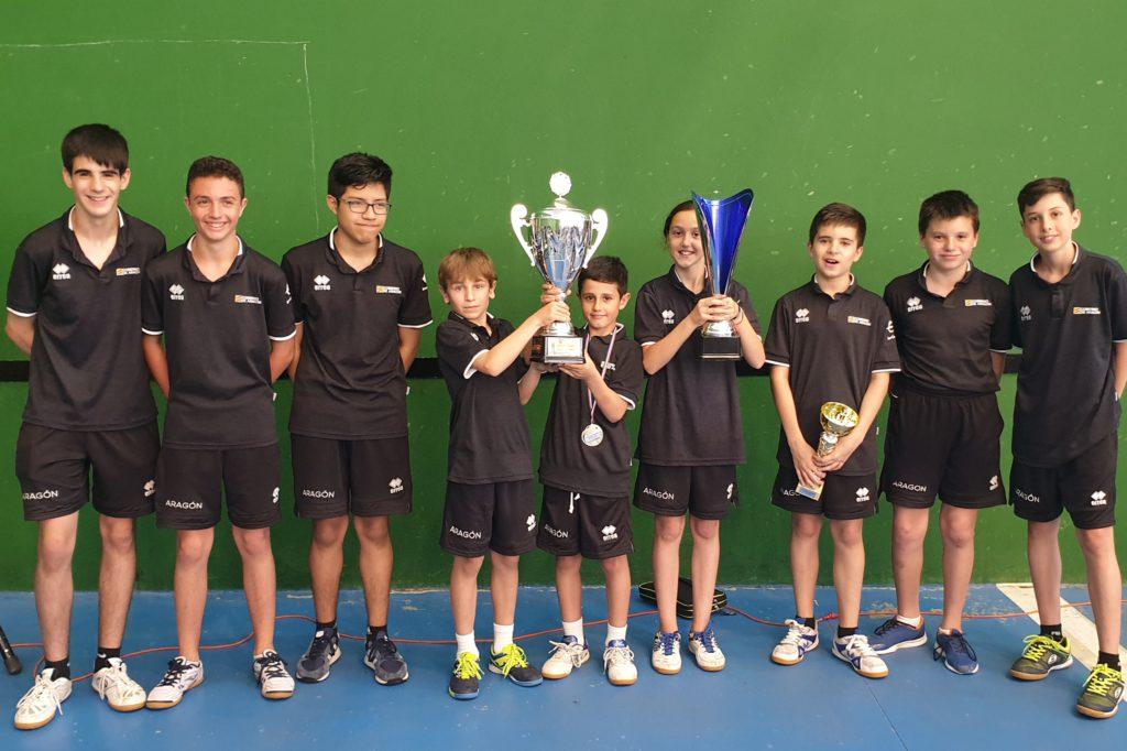 Aragón se proclama campeón de la Copa Pirineos de tenis de mesa