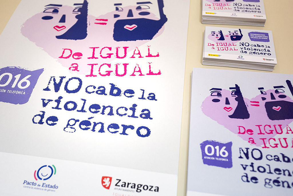 'De igual a igual': nueva campaña del Ayuntamiento de Zaragoza para prevenir, visibilizar y combatir la violencia machista