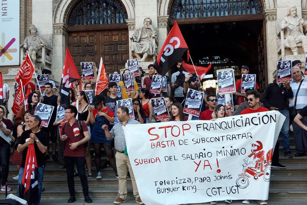 Huelga en Telepizza el 29 de junio para exigir la aplicación de la subida del salario mínimo