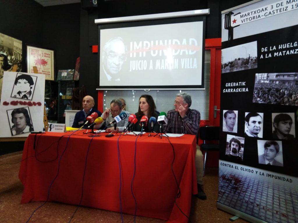 Denuncian ante la ONU los asesinatos del 3 de marzo de 1976 en Gasteiz