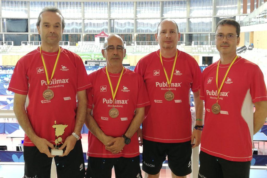 Bronce para los veteranos del Publimax CAI Santiago en el campeonato estatal