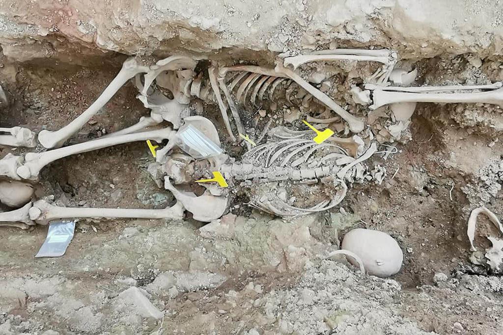 Exhumados siete cuerpos de víctimas de la represión franquista en Pomer