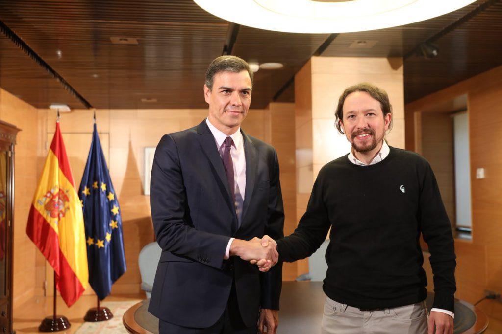 """Sánchez ofrece a Iglesias un """"gobierno de cooperación"""": """"Trabajaremos por lograr un gobierno progresista cuanto antes"""""""