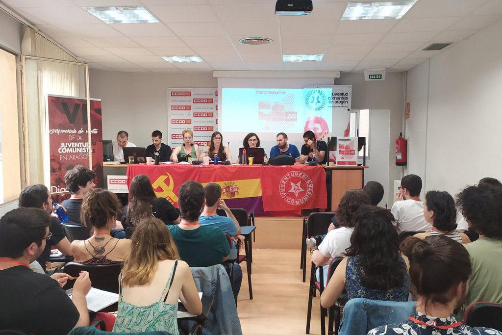 Sara Ballesteros elegida nueva Secretaria Política de la Juventud Comunista en Aragón