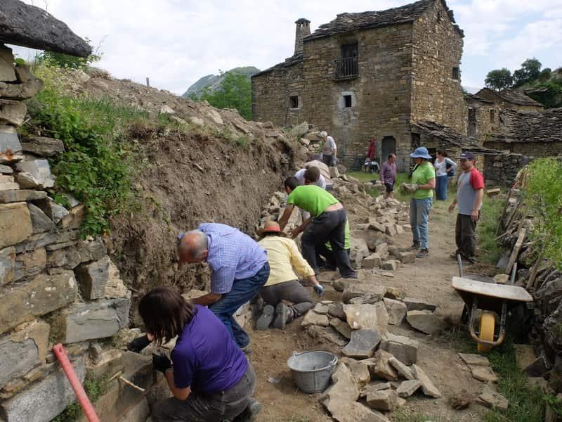 Triunfo de participación en el I Taller de piedra seca de Sobrarbe