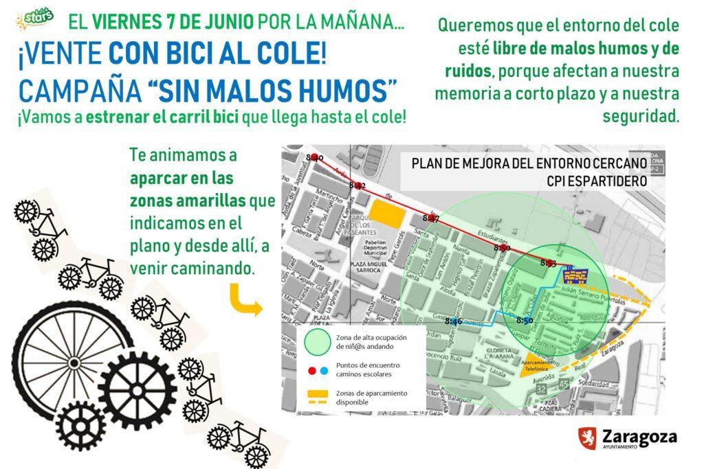 El CPI El Espartidero inaugura colectivamente el nuevo carril bici de Santa Isabel