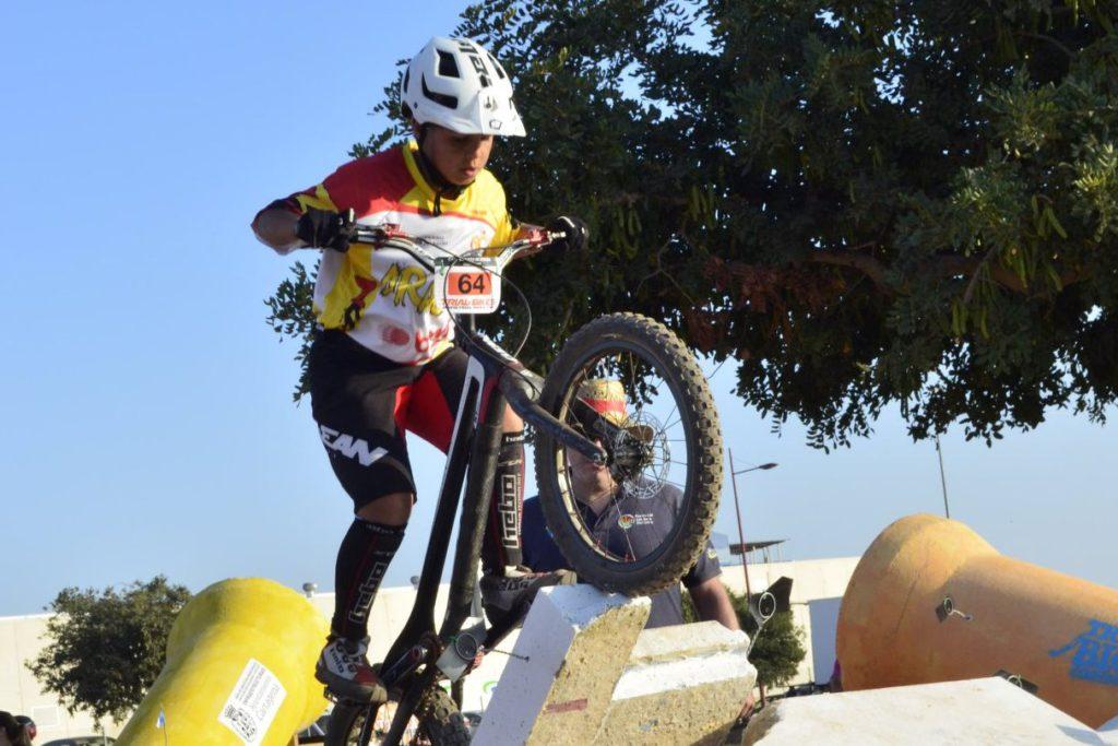 Poldo Sillué, séptimo alevín de Bike Trial del Estado español