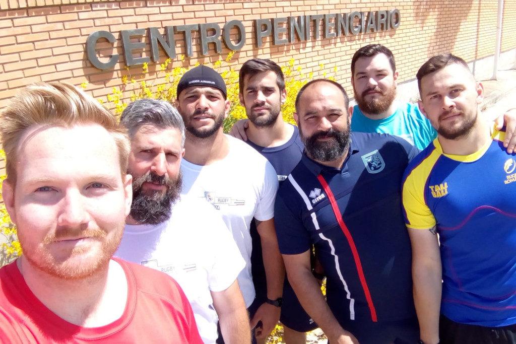 El Centro Penitenciario de Zuera acoge su primer partido de rugby