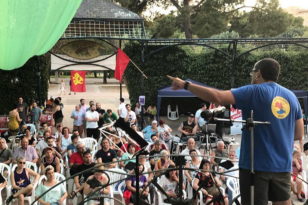 El PCE Aragón ha celebrado su fiesta anual dedicada a lucha contra las casas de apuestas y la crisis económica